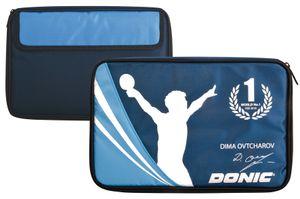 Donic-Schildkröt Tischtennis Schlägerhülle Ovtcharov, Schlägerhülle für bis zu zwei Schläger, inkl. Zubehörfach