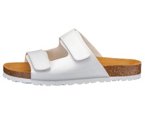 LICO Pantolette Bioline Velcro, weiß, EU 44, 560292