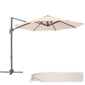 tectake Sonnenschirm Ampelschirm Ø 300cm - beige