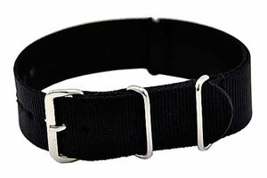 Uhrenarmband Durchzugsband Nylon schwarz 20mm NATO STRAP