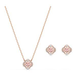 Swarovski Set 5516488/5604204 Sparkling Dance Clover, rosa, Rosé vergoldet