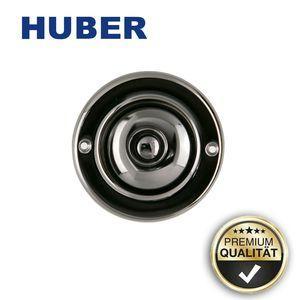 Huber 12523 Klingelplatte, messing brüniert rund Edelstahl