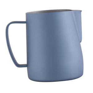Espressomilch Schaumkrug Edelstahl Latte Art Kaffeekanne Farbe Hellblau