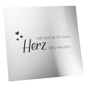 bremermann Herdspritzschutz 2in1 mit Nachbildung aus Edelstahl // ca. 56,5 B x 59 H cm // Wandblende Wandschutz