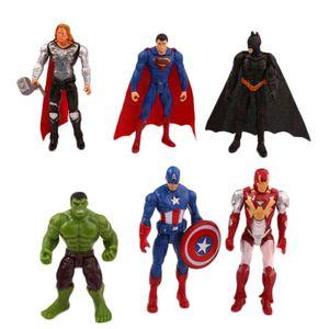 6 Stück 10cm Marvel The Avengers Superheld Spiderman Action Figur Figuren Iron Man Bat Man Actionfiguren