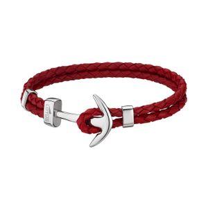 Lotus Style Armband Herren Anker LS1832-2/2 Leder rot Markenschmuck D2JLS1832-2-2