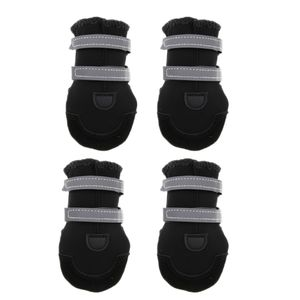 4pcs Hundeschuhe Pfotenschutz Reflektierende Schuhe Winter Stiefel mit Schwarzes XS wie beschrieben