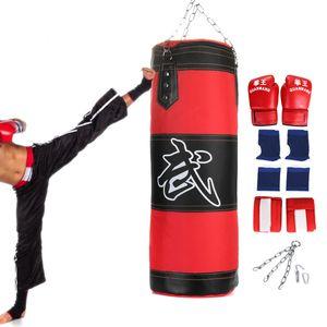 8tlg Set 0.8m Boxen Boxsack Sandsack Boxing Training Boxhandschuhe Stahlkette