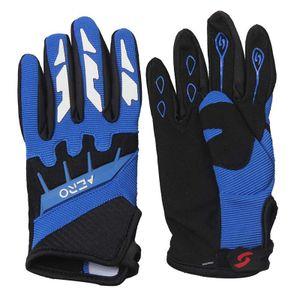 Kinder Motocross Handschuhe Moto Cross Downhill Mountainbike Offroad Farbe: Blau Größen: S