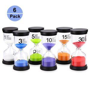6er Set Sanduhr eingestellt Farben Sanduhr Minuten Sanduhr Sanduhr Sortierte Farbe Timer