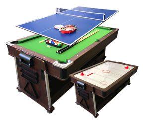 Billardtisch 7 FT und Tischhockey und Tischtennistisch und Tischdecke mod.Mattew