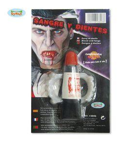Blut und Vampirzähne