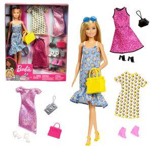 Sommermoden-Set | Barbie Puppe mit Kleidung & Accessoires | Mattel GDJ40