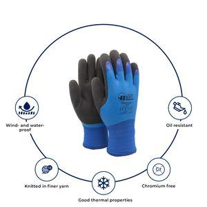 Hanvo Bestgrip Aquaguard Thermo Arbeitshandschuhe Gestrickte handschuhe, Schnittschutz und wasserdicht Blau - Komfortable wasserdichte Handschuhe - 8 / M - 1 Paar