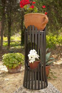 DanDiBo Blumensäule Albero 60 cm Blumenhocker Metall Blumentisch Blumenständer Hocker