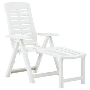 vidaXL Klappliege Kunststoff Weiß