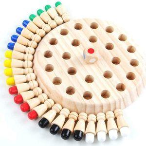 Holz Memory Match Stick Schach Spiel Kinder, Intelligenz Gehirntraining Pädagogisches Werkzeug Geschenke Familie Brettspiele für Kinder und Erwachsene (Holz)