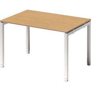 Bisley Schreibtisch CITO U Verstellbar 1200x650-850x800mm weiss/buche