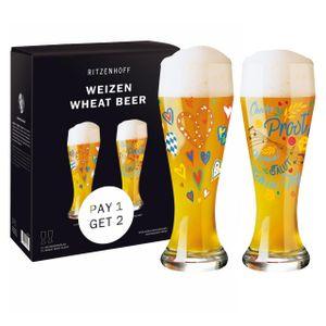 Ritzenhoff Weizen Weizenbierglas 2er Set 2021 Vater & Jacquart, Glas, 500 ml, 6071003
