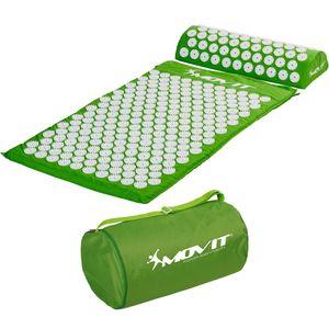 MOVIT® Akupressurmatte mit Kissen 75x44, grün