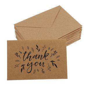 20 Stücke danken Ihnen Karten mit Umschlägen Größe # 9