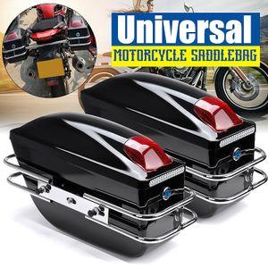 Audew 2x Motorrad Seitenkoffer Hartschalenkoffer Gepäck Satteltasche L+R