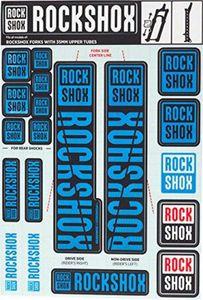 ROCKSHOX Dekorsatz, Decal Kit für Ø 35mm Federgabeln, blau