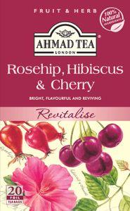 Ahmad Tea- Hagebutte, Hibiskus & Kirsche Früchte-Tee 40g,  20 Beutel