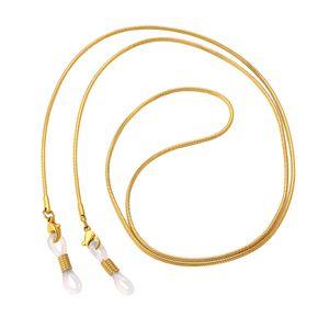 Brillenkette Brillenkordel Sport Brillenband Anti-Rutsch für Lesebrille Gold wie beschrieben