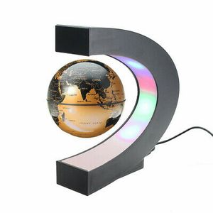LED C-förmigen Magnetische Schwebender Globus Weltkugel Floating Floater