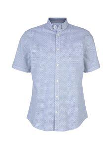 TOM TAILOR REGULAR PRINT SHIRT Herren kurzarm Hemd, Größe:L, Tom Tailor Farben:White Blue Minimal Design