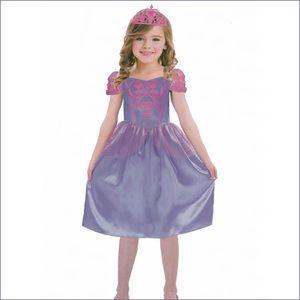 PRINZESSIN KOSTÜM KINDER LILA Karneval  Party Kleid Mädchen # Gr. S: 110/116 (4-6 Jahre )