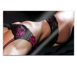 Acrylglasbilder 80x50cm Sexy Frau Erotik Pose Unterwäsche Brust nackt Körper Acryl Bilder Acrylbild Acrylglas Wand Bild 14H746