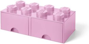LEGO aufbewahrungsstein mit Schubladen 8 Noppen 50 x 18 cm PP rosa