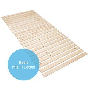 Rollrost Basic 140x200 (11 Latten) Rolllattenrost Lattenrost Bettrost Holzlatten Latten Rost