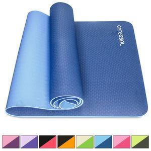 arteesol Yogamatte aus Hochwertigen TPE, Rutschfest Gymnastikmatte, Pilatesmatte, Sportmatte für Yoga Pilates Fitness, 183x61x0.6cm, Marine