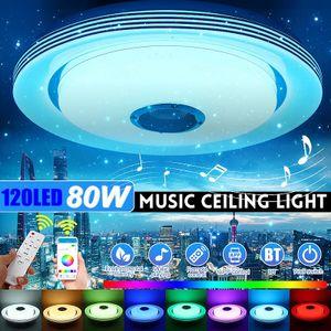 Meco 80W RGB 120LED Deckenleuchte Deckenlampe Bluetooth Lautsprecher +APP Remote DE
