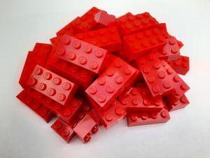 Lego© Steine 50 rote Loriginale basic Bausteine mit 2*4 Noppen *neu und unbespielt*