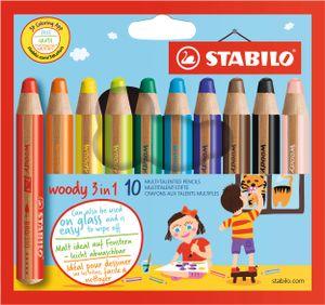 STABILO Multitalentstift woody 3 in 1 10er Karton Etui