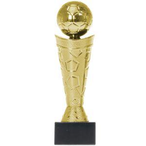 Pokal Fußball Nizza Silber PVC Trophäe Figur 18cm hoch