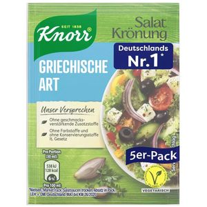 Knorr Salatkrönung Griechische Art klares Dressing 5x 9g 5er