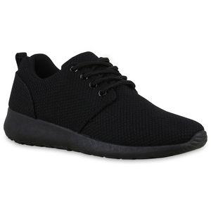 Mytrendshoe Damen Sportschuhe Laufschuhe Runners Sneakers Schuhe 892195, Farbe: Schwarz Schwarz, Größe: 39