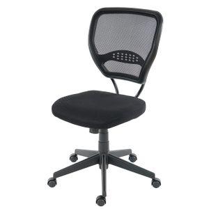 Profi-Bürostuhl Seattle, Chefsessel Drehstuhl, 150kg belastbar, Stoff/Textil  schwarz ohne Armlehnen