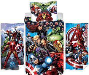 Marvel´s The Avengers - Kinder-Bettwäsche-Set, 135x200 cm und 2 Handtücher, 70x140 cm