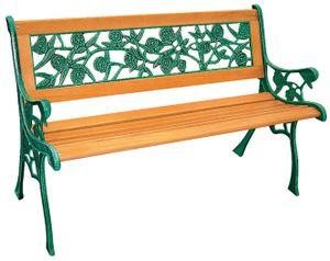 Rosen Parkbank aus Gusseisen mit Holz Sitzfläche