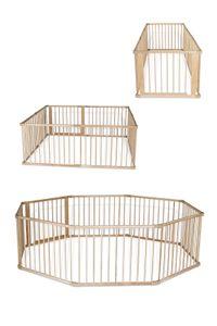 dibea Baby-Laufstall, Holz-Laufgitter mit 68 cm Höhe und Tür, 8 Elemente je 90 x 68 cm