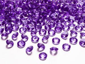 Dekosteine Diamanten lila 100 Stück 12mm Durchmesser