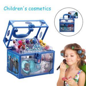 Kinderkosmetik, Prinzessin Make-up-Boxen, Geschenksets, Weihnachtsgeschenke für Mädchen,Kinder-Schminkkoffer