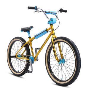 SE Bikes OM Flyer 26 Zoll Cruiser BMX Fahrrad Bike 26' BMX Bike Freestyle, Farbe:gold, Rahmengröße:38 cm
