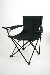 Campingstuhl in schwarz